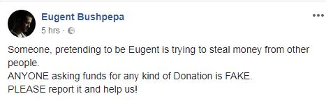eugent1 Bushpepa: Dikush po përpiqet të fitojë para në emrin tim