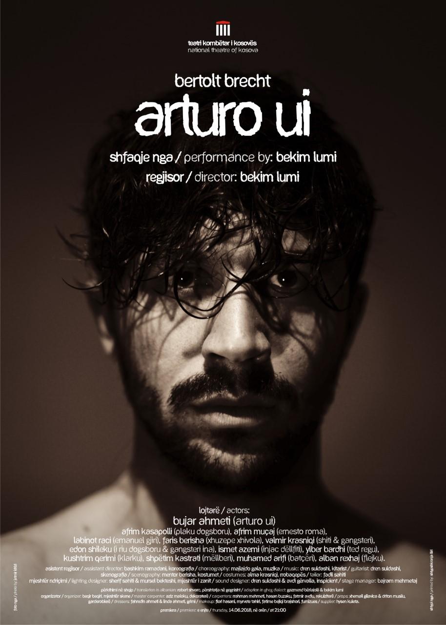 """thumbnail_POSTER_ARTUROUI-7 Sëmundja ia pamundëson Bekim Lumit pjesëmarrjen në premierën e """"Arturo Ui"""""""