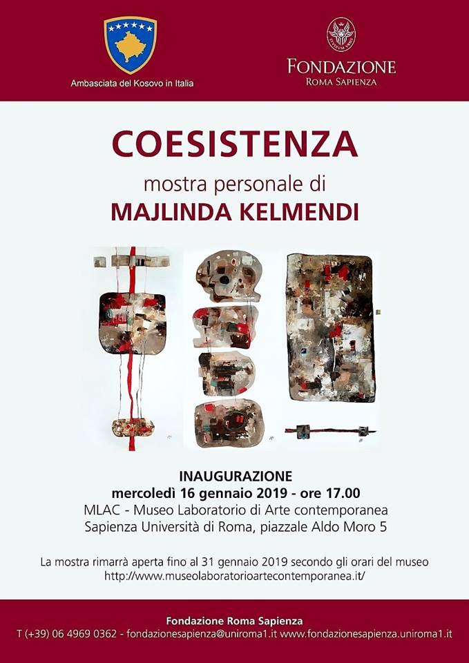 Të mërkurën Muzeu 'Laboratori i Artit Bashkëkohor' në Universitetin Sapieza në Romë do të hapë ekspozitën personale të artistës Majlinda Kelmendi, shkruan KultPlus.
