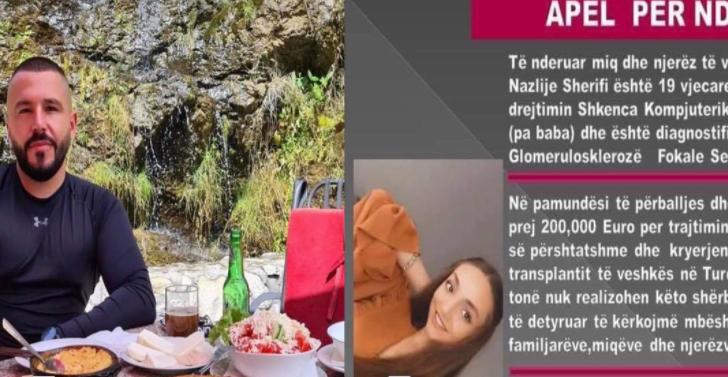Një qytetar nga Deçani i gatshëm të ia dhurojë veshkën 19 vjeçares