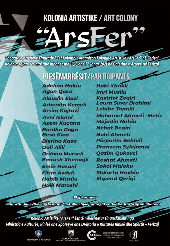 """136351794 509619206681363 5810461753701348780 n 705x1024 - """"ArsFer"""" bashkon 38 artistë në Ferizaj"""